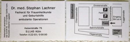 Praxisschilder Hörmann Visitenkarten Schwarz Weiß Und Farbig